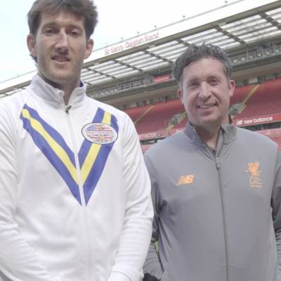 Anfield stadium tour with Robbie Fowler & Stef Ratchford